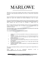 Marlowe plc Acquisition Guide