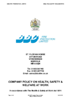 Health, Safety & Welfare at Work Policy
