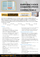 OmniCare Combined Fire Telephone, Disabled Refuge and Disabled WC Control Panels