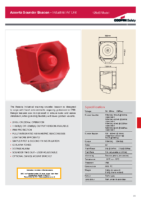 Asserta Industrial 24VDC Sounder Beacon (120dBA)