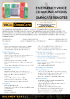 OmniCare Combined Fire Telephone, Disabled Refuge Outstations