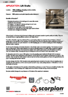 Scorpion Application Sheet – Lift Shafts