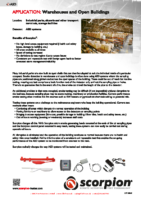 Scorpion Application Sheet – Warehouses
