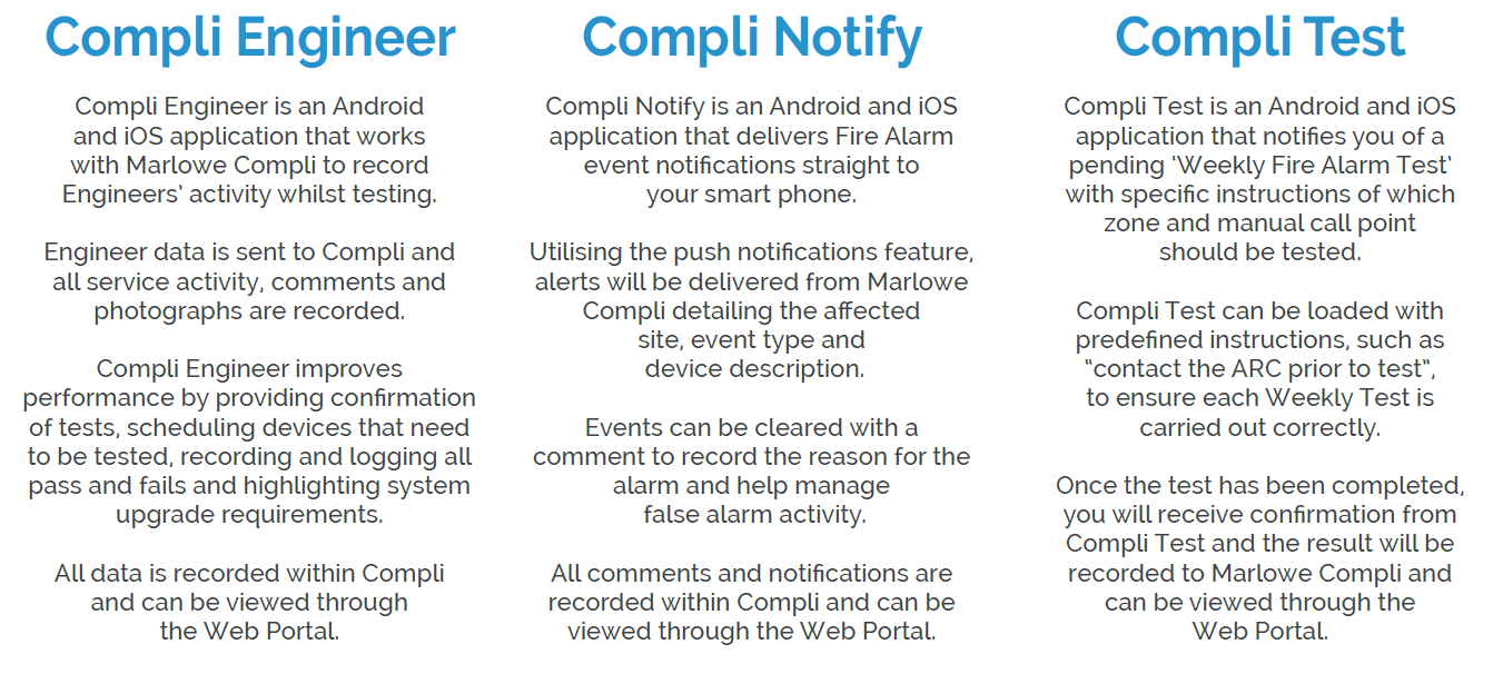 Compli - Fire Alarm Management System Mobile Apps Explanation